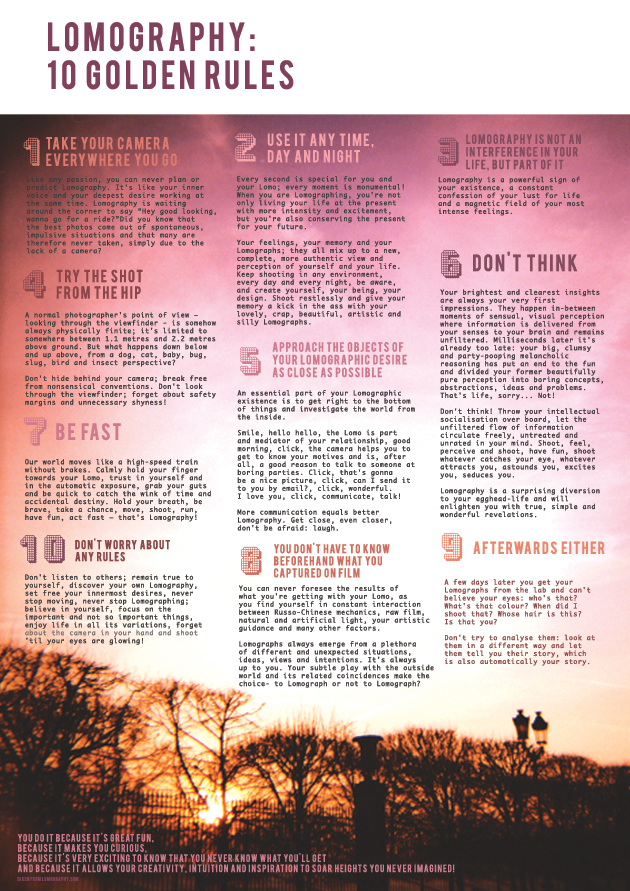 Lomography 10 Golden Rules Lucy Barfoot